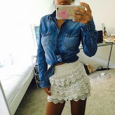 DENIM SHIRT Zara trafaluc, 100% cotton.cute details with slap buttons at front. Two pockets Zara Tops