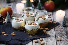 Ein leckeres Bratapfel Dessert, das schnell zubereitet ist. Praktisch und dekorativ zugleich im Glas. Das Rezept gibt es hier!