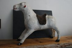 Hey, I found this really awesome Etsy listing at https://www.etsy.com/listing/218871461/papier-mache-french-play-horse-in-very