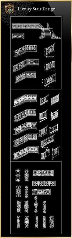 Luxury Stair Design | Free Cad Blocks & Drawings Download Center