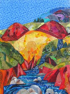 """Marcia McDade McMann mixed media collage 2012 at Piedmont Craftsmen -- Mother Earth 21""""H x 16""""W $300.00"""