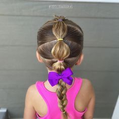 Bubble braid - toddler hair ideas