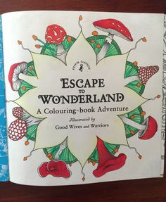 Adult Colouring Book Review - Escape To Wonderland  | Adult Colouring Book…