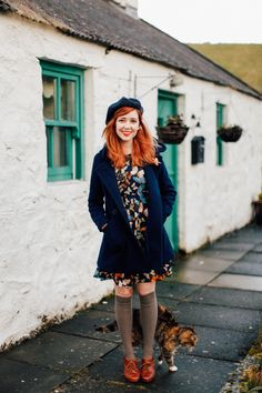 brogues and long socks teamed with a beret are my WEAKNESS