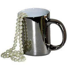 Mug Porte-bonheur « Bling Bling » or ou argent, au choix, livré seul - 8,50 € (+ 6,90€ frais de livraison Colissimo en France métro) - mailto:contact@sktv.fr