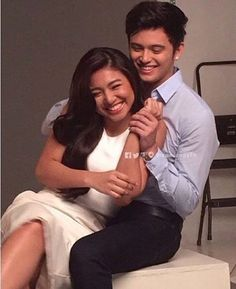 JaDine in Love photoshoot. One hot concert this coming February © Life Is Hard, Real Life, Gma Network, Bride Poses, James Reid, Nadine Lustre, Jadine, How To Pose, Just Friends