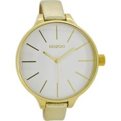 OOZOO Timepieces XL Gold Leather Strap C6841