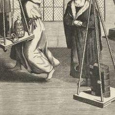 De bijbel op de weegschaal, anoniem, 1677 - 1690 - Rijksmuseum