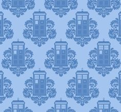 TARDIS. Would like this in wall paper form please.