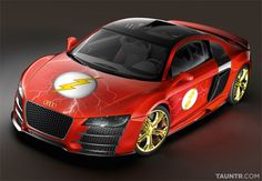 the flash superhero car GT Audi Fast like Flash