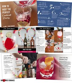 Snaps from our cocktail book 'How to Host the Perfect Cocktail Party'!