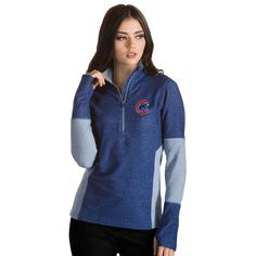 Womens Chicago Cubs Pro 1/4 Zip By Antigua