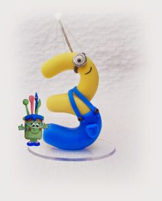 Ana Paula  Arte Em Biscuit By Ana Paula Wanderely: Vela Minions 3 aninhos para Raphael