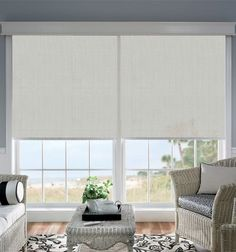 These Roller Blinds Have Been Installed Behind A Pelmet To Hide All The