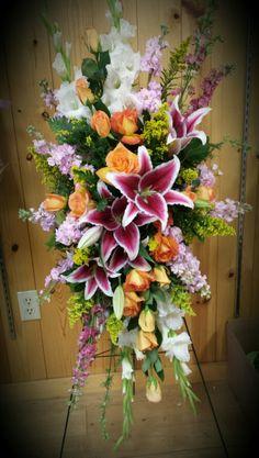 Country Greenery...Fargo ND Casket Flowers, Grave Flowers, Cemetery Flowers, Church Flowers, Funeral Flowers, Wedding Flowers, Funeral Caskets, Funeral Floral Arrangements, Funeral Sprays