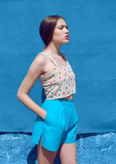 Monika Ratkovic Spring Summer Collection, Location Ada Lake, Belgrade, Model Isidora Jokovic, 2014