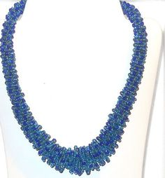 "Blue Glass Bead Necklace 20"" long Mother's Day      http://stores.ebay.com/JEWELRY-AND-GIFTS-BY-ALICE-AND-ANN"