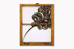Salvaged window art by Emmy Star Brown. I just bought a salvaged window...dare I?
