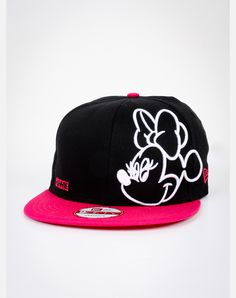 Neon Minnie Mouse Snapback Hat