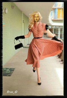 Retro fashion photos Harrison Hurwitz Photography coral retro dress black, so cute for pin up Moda Vintage, Vintage Mode, Retro Vintage, Modern Retro, Vintage Glamour, Danish Modern, Vintage Signs, Moda Rockabilly, Rockabilly Fashion