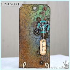 Work In Progress Art Tag by Tammy Tutterow | www.tammytutterow.com