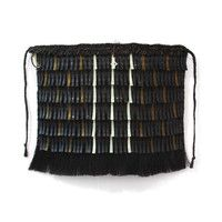 Ngā Tuaitara o Taikehu (Black, Bone & Amber) Flax Weaving, Flax Fiber, Maori Designs, Maori Art, Weaving Techniques, Cloak, Old And New, Tapestry, Embroidery