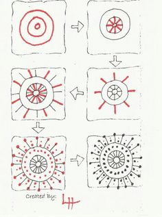 ideas flowers art drawing step by step zentangle patterns for 2020 Doodles Zentangles, Tangle Doodle, Tangle Art, Zentangle Drawings, Zentangle Patterns, Doodle Drawings, How To Zentangle, Zen Doodle Patterns, Stylo Art