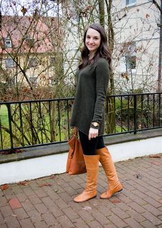 JORD Wood Watch Giveaway and Green Tunic Sweater for a casual look on Countdown to Friday