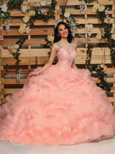 Custom quinceanera dresses in bright colors! These quince dresses can be made in any color. Lots of vestidos de quinceanera to choose from. Sweet 15 Dresses, Cute Dresses, Beautiful Dresses, Prom Dresses, Wedding Dresses, Formal Dresses, Quinceanera Dresses Coral, Quinceanera Party, Quinceanera Decorations