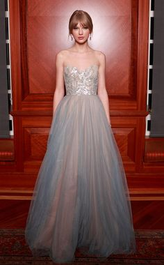 This girly-girl is princess perfection at the 2011 Nashville Symphony Ball in an ethereal Reem Acra strapless confection.