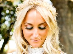 Bridal floral crown hair wreath Babys by BudgetWeddingBouquet