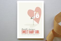 Sweet Delivery Baby Shower Invitations by guess wh... | Minted