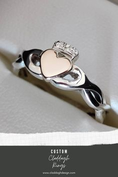 One of a kind Claddagh Ring inspiration, made by custom order