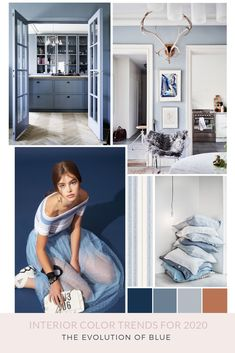 Interior Color Trends for 2020 The Evolution of Blue SampleBoard Design Your Home, Home Interior Design, Classic Interior, Nordic Interior, Studio Interior, Apartment Interior, Colorful Decor, Colorful Interiors, Blue Interiors