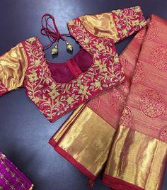 Best Blouse Designs, Zardosi Work, Silk Sarees, Blouses, Models, Tote Bag, Orange, Bags, Dresses
