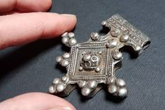Old berber silver southern cross called Boghdad, Southern Morocco jewelry, Moroccan Boghdad, Amazigh jewelry West Africa, North Africa, Ethnic Jewelry, Jewellery, Morocco, Hippie Boho, Southern, Pendants, Brooch