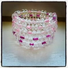 This is what we made at one of our school programs today! #beading #memorywirebracelet