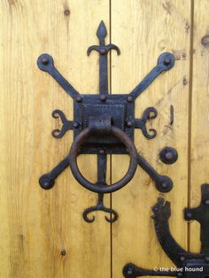 viking hardware (door) on a church outside of Reykjavik