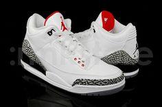 jordan in my top got three pairs. Air Jordan 3, Air Jordan Shoes, Jordan 3 White Cement, Popular Sneakers, Cheap Air, Kicks, Jordans, Footwear, Sneakers Nike