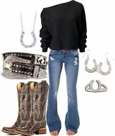 cowgirls country cowboy outfit shirts boats jeans ideas best with Best cowboy boats outfit with jeans country cowgirls shirts ideasYou can find Country outfits and more on our website Country Style Outfits, Country Girl Style, Country Fashion, Mode Outfits, Fall Outfits, Fashion Outfits, Womens Fashion, Outfit Winter, Summer Outfits