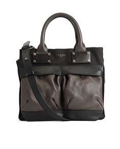 Rag & Bone Small Pilot Mocha - Inspired by air force helmet carriers the Pilot is a  semi-structured satchel-style bag made from fine Italian leathers.