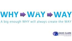 The WHY is the WAY. A big enough why will always find a way...on purpose