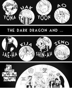 Akatsuki NO Yona THE dark dragon and THE happy hungry bunch