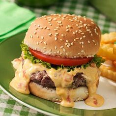 Yes, I'll admit that I'd eat this burger with melted Velveeta & Rotel...