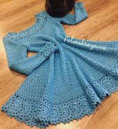 VESTIDO OUTONO INVERNO – Moda Croche  b1515c15fd2