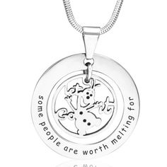 Worth Melting Necklace are handcrafted and hand cut from scratch. We use our own materials Monel silver which does not tarnish, is non allergic and has a unique white gold look finish; and Moneil gold