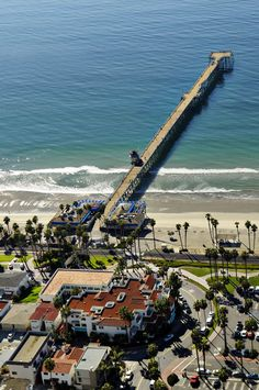 Stretching 1,300 feet into the Pacific, The San Clemente Pier l  Aerial View