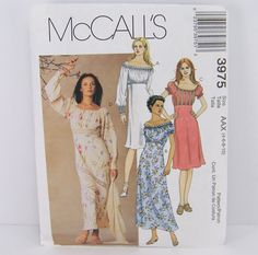 McCalls 3975 Misses Dress Sewing Pattern by SewingPatternsPast