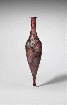 Glass perfume bottle Period: Early Imperial Date: 1st century A.D. Culture: Roman, Cypriot
