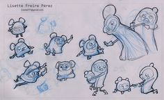 Planning sketches by Lisette Freire for the animation spot Savory